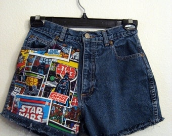 One- Sided Star Wars Highwaisted Shorts