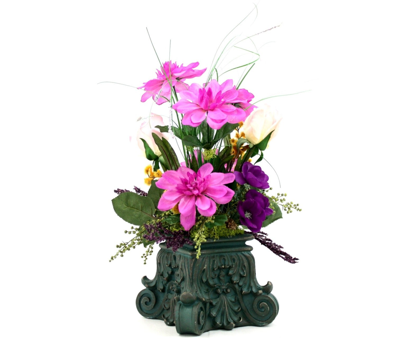 On sale new orleans style silk flower arrangement classical