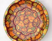 Daher 1970s Fall Flowers Metal Bowl