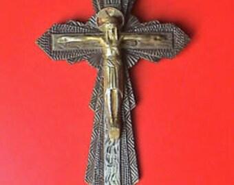 Art Deco Catholic Crucifix