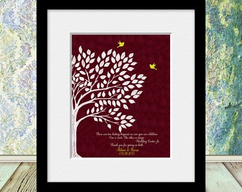 Hodding Carter Jr. Quote, Parents Thank You Gift, Parents Anniversary Print, Bride's Parent Gift, Groom's Parent Gift, Roots and Wings Print