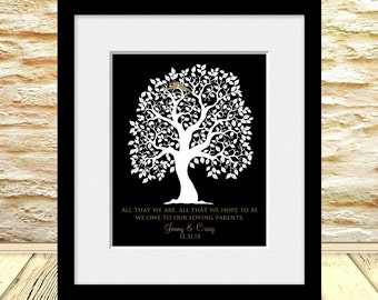 "Parent's THANK YOU Gift, Thank You Print for Parents, Gift for Bride and Groom's Parents, ""All That We Are"", Parents Thank You Gift"