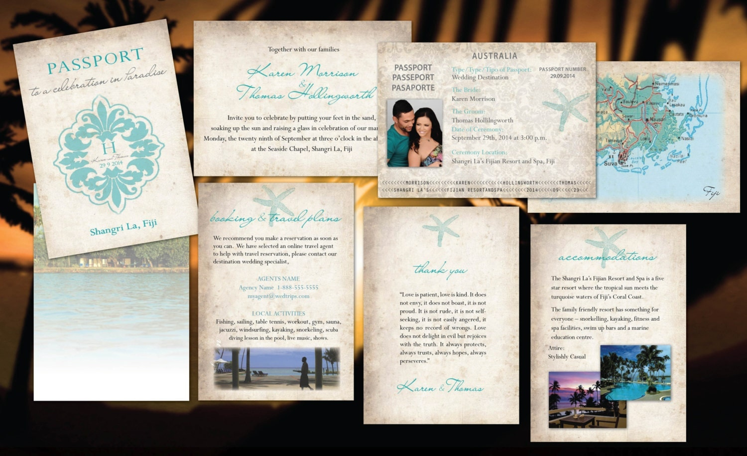 passport to paradise – OnePaperHeart – Stationary & Invitations