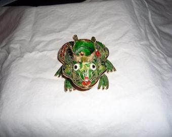 Cute Prince Frog Trinket Box