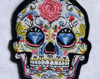 Popular items for Sugar skull iron on on Etsy