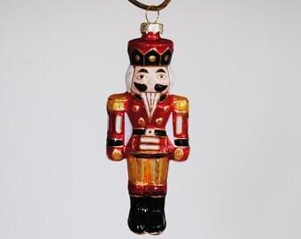 Nutcracker Ornament in Red