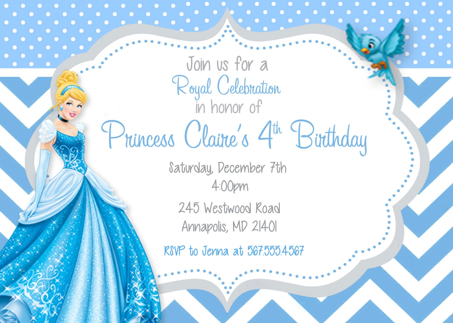 princess birthday card template - Gidiye.redformapolitica.co
