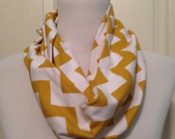 Mustard/gold chevron scarf- available in infinity and regular!