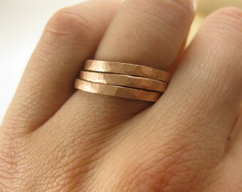 The Original Pounded Penny Ring. For Stacking and Mixing.