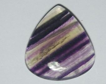 102 carat purple banded fluorite cabochon