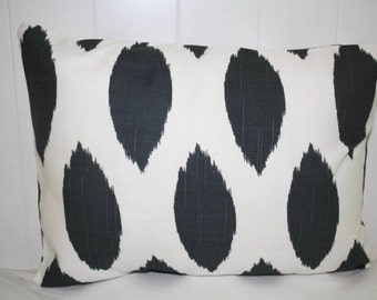 Decorative lumbar pillow 12x16  in Charcoal Chipper Storm Pillow Cover