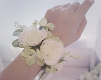 wedding flower bracelet, headband hair accessories hand made