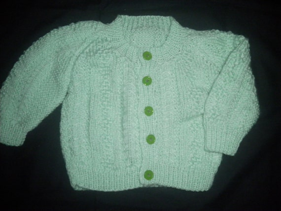 Knitting Baby Sweater Measurements : Knitted baby infant cardigan sweater size months