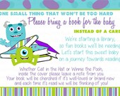 Monsters Inc Inspired Bring a Book Insert