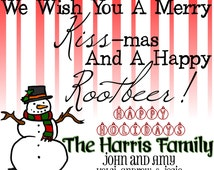 Merry Kiss-mas and Happy Rootbeer Gift Tag