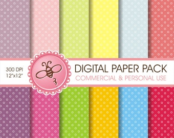 DIGITAL printable paper pack - rounds background   / Baby & Kids Projects