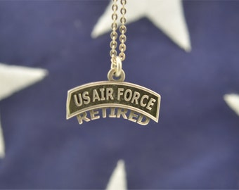 US Air Force Retired Pendant