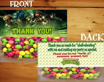 Teenage Mutant Ninja Turtle Treat Topper, TMNT Topper, TMNT Thank You,  Instant Download - You Print - Digital