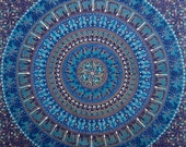 Blue Elephant Mandala Tapestry, Indian Hippie Wall Hanging , Bohemian Twin Wall Hanging, Bedspread Beach Coverlet throw Decor  Beach blanket