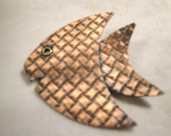 Vintage Copper Fish Pin
