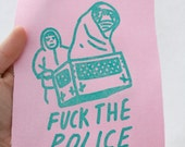 E.T. & Elliot F*ck The Police - Sew On Patch - Glow In The Dark