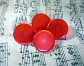 Red Buttons, Flat Buttons, Shank Buttons, Vintage Buttons, Supplies, Sewing Notations, Knitting, Crafting, Epsteam