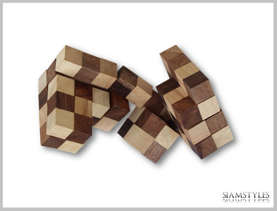 wood cube puzzle instructions snake