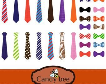 Ties & Bow Ties Clip art, Digital Clip Art men's ties, bow tie clipart-SAJ-263
