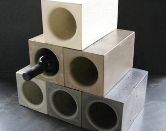 Concrete Wine Cooler, Concrete Vase, Concrete Utensil Holder