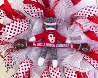 Deco Mesh Oklahoma University Wreath
