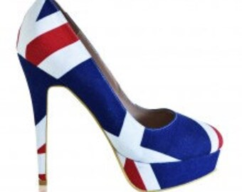 African wax heels - size 8