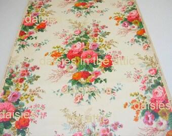 Vintage Original 1920s Design Wallpaper Floral Bouquet