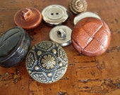 Vintage Buttons in Various Sizes and with Various Holes - Lot of 8