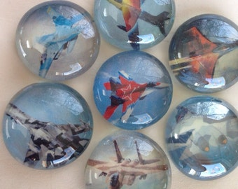 Fighter jet glass magnets, airplane magnets, fighter plane glass magnets, and more Sure to brighten any fridge locker or white board