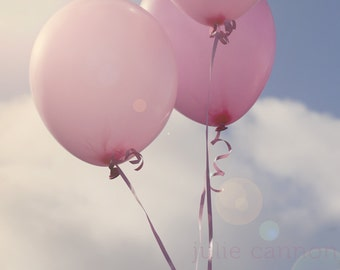 Balloon Photograph - Pink Balloon Art - Childrens Art - Nursery Print - Fine Art Print - Wall Art
