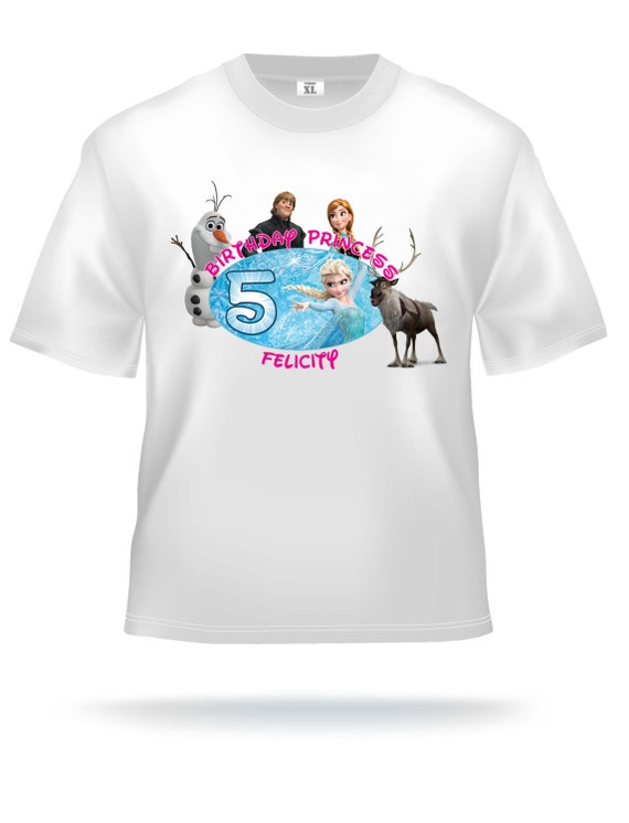 Personalized Disney Frozen birthday t-shirt - Elsa, Anna, Olaf, Sven