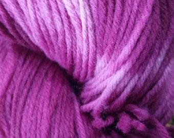 100% Superwash Merino Hand Dyed Sock Weight Yarn - Mulberry Cream
