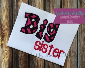 Big Sister Applique Design - Embroidery Machine Pattern