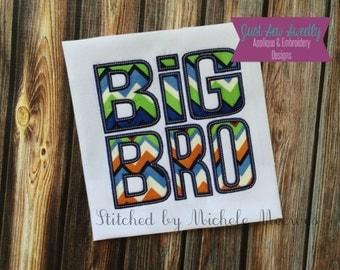 Big Bro Applique Design - Embroidery Machine Pattern Big Brother