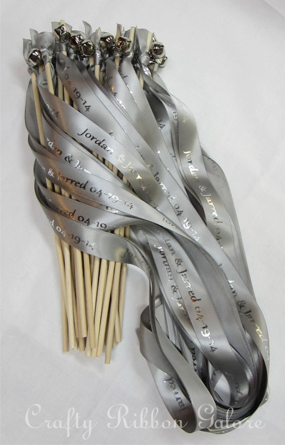 ... Wedding Wands 25 Single streamer with bells. Your choice of colors