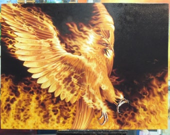 """Eagle painting oil painting on canvas 36""""X48"""""""