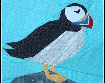 Puffin- A 12 Inch Paper Piecing Pattern
