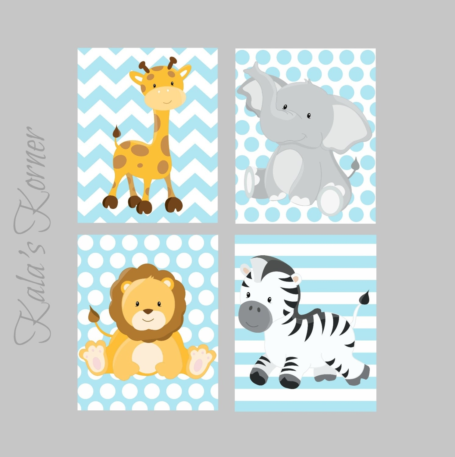 Safari Nursery Ideas: JUNGLE NURSERY ART Jungle Nursery Decor Safari Nursery