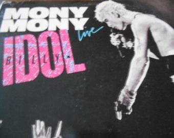 """Billy Idol - Mony Mony Live- 12""""Single Vinyl record"""