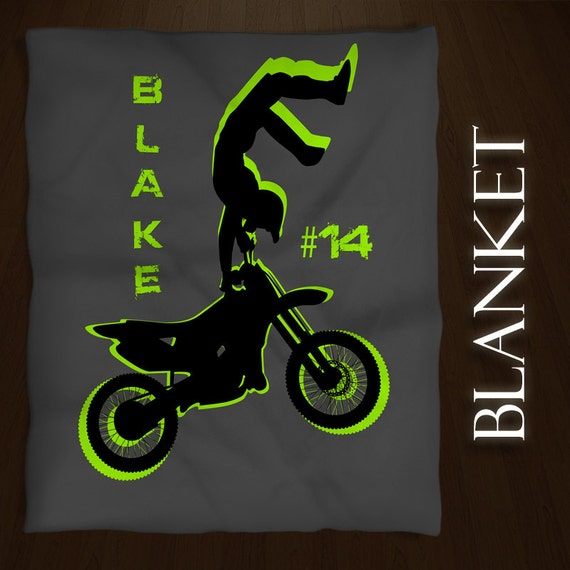 Motocross Blanket Personalized Throw By Eloquentinnovations