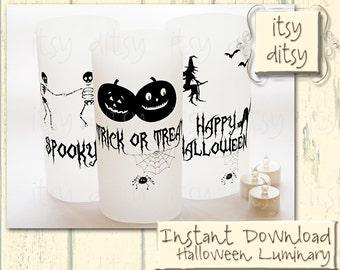 Halloween luminaries - Halloween printable luminary lanterns-Halloween lights-DIY Halloween - Halloween lighting -printable luminary - JPGs