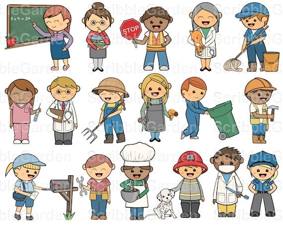 Community Helpers ClipArt by ScribbleGarden on Etsy