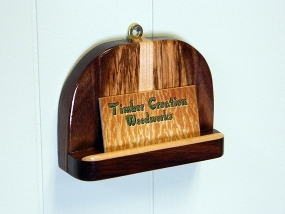perfect wood wall mount business card holder free