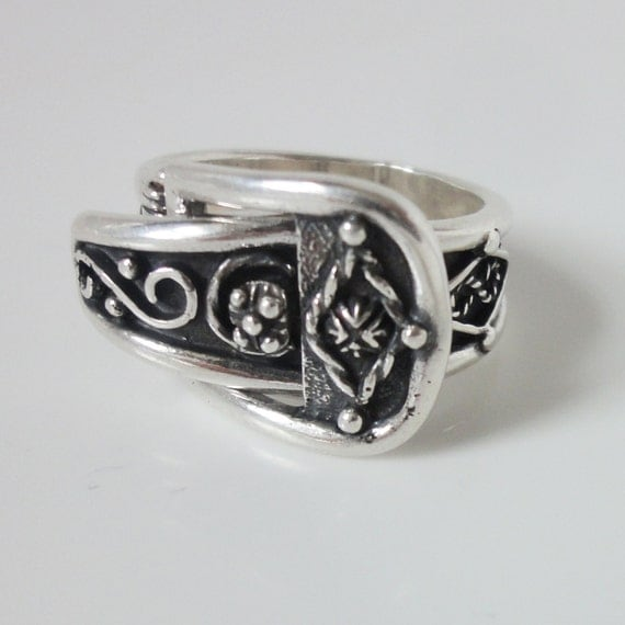 mens silver ring chunky silver ring silver by