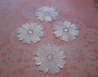 100 % cotton flower appliques 20 for 2.50